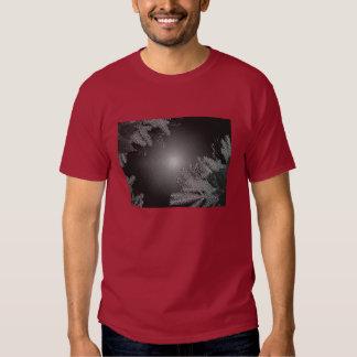 Christmas Poinsettia Black And Grey II T-shirts
