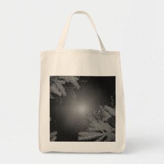 Christmas Poinsettia Black And Grey III Bags