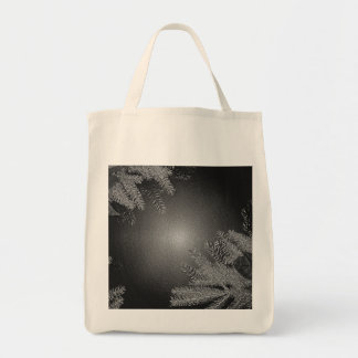 Christmas Poinsettia Black And Grey III Grocery Tote Bag
