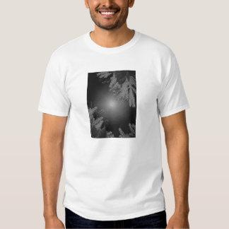 Christmas Poinsettia Black And Grey III T Shirt