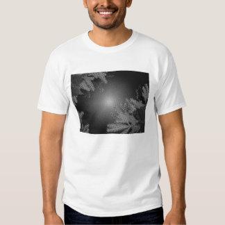 Christmas Poinsettia Black And Grey III Tee Shirts