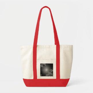 Christmas Poinsettia Black And Grey IV Impulse Tote Bag