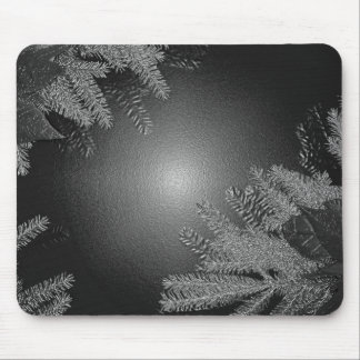 Christmas Poinsettia Black And Grey Mousepads