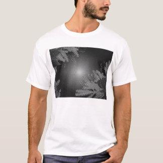 Christmas Poinsettia Black And Grey T-Shirt