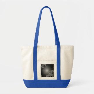 Christmas Poinsettia Black And Grey V Impulse Tote Bag