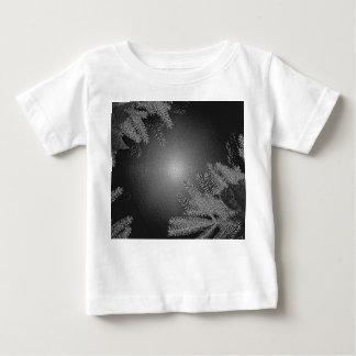 Christmas Poinsettia Black And Grey VI Baby T-Shirt