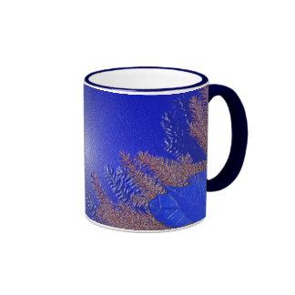 Christmas Poinsettia Blue I Coffee Mug