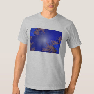 Christmas Poinsettia Blue I Shirt