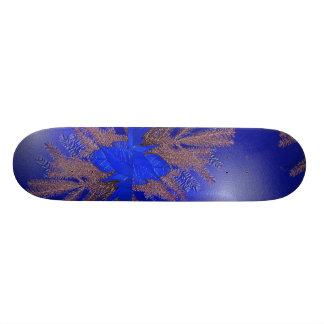 Christmas Poinsettia Blue I Skate Board Deck