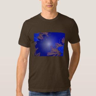 Christmas Poinsettia Blue I T-shirts