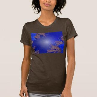 Christmas Poinsettia Blue I Tee Shirts