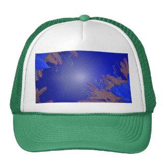 Christmas Poinsettia Blue II Mesh Hats