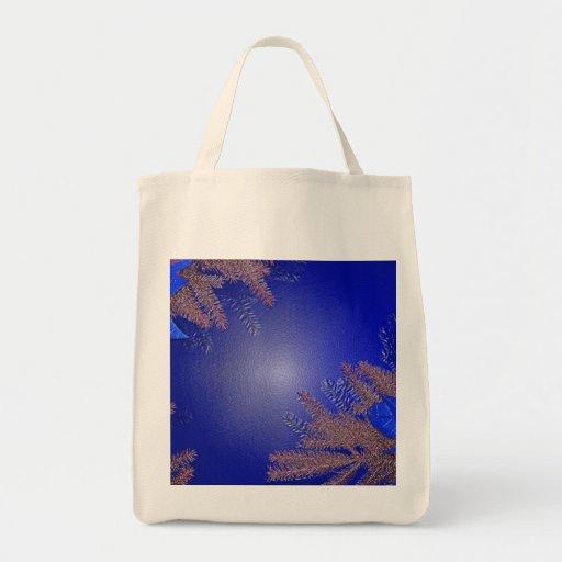 Christmas Poinsettia Blue III Tote Bag