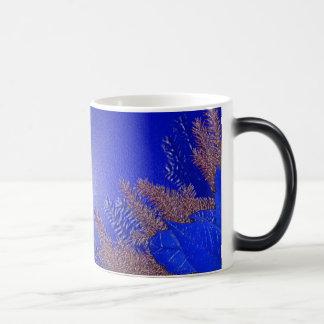 Christmas Poinsettia Blue III Coffee Mugs