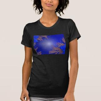 Christmas Poinsettia Blue III T-shirt