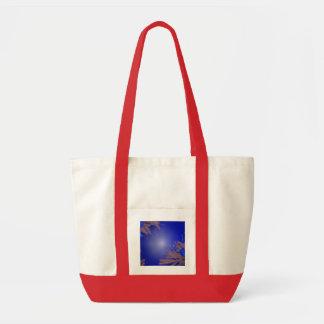 Christmas Poinsettia Blue IV Tote Bag