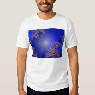 Christmas Poinsettia Blue T-shirt