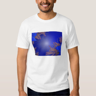 Christmas Poinsettia Blue Tees