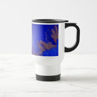 Christmas Poinsettia Blue V Mugs