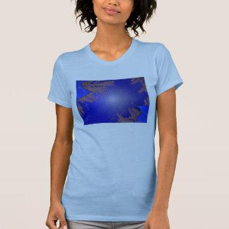 Christmas Poinsettia Blue VII T-Shirt