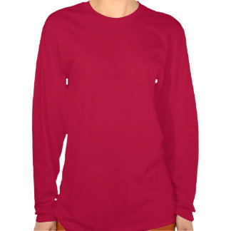 Christmas Poinsettia Hanes Deep Red LS  T-Shirt