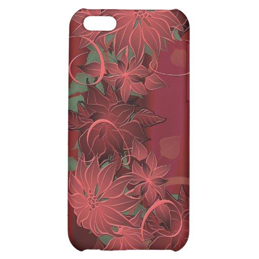 Christmas Poinsettia iPhone 5C Cases