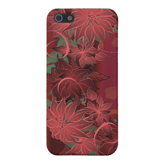 Christmas Poinsettia Case For iPhone 5