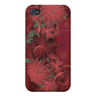Christmas Poinsettia iPhone 4/4S Covers