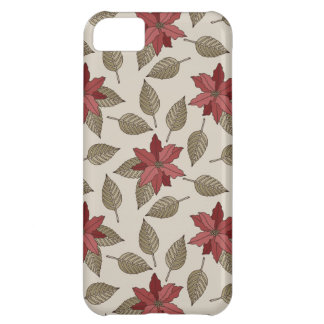 Christmas Poinsettia Phone Case iPhone 5C Cover