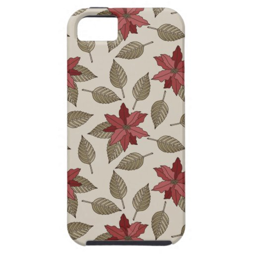 Christmas Poinsettia Phone Case iPhone 5 Cases