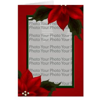 Christmas Poinsettia Photo Frame Card 4
