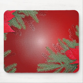Christmas Poinsettia Red Mousepads