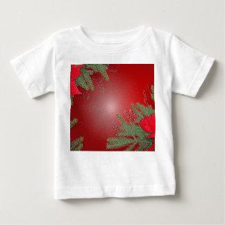 Christmas Poinsettia Red VI Baby T-Shirt