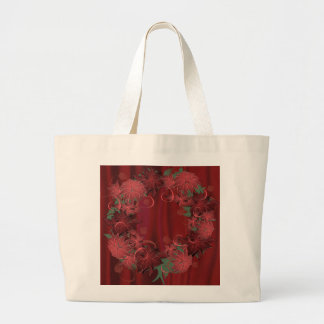 Christmas Poinsettia Canvas Bags