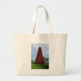 Christmas Poinsettia Tree in San Diego Canvas Bags