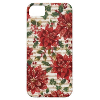 Christmas Poinsettias and Music Phone Case