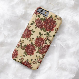 Christmas Poinsettias Barely There iPhone 6 Case