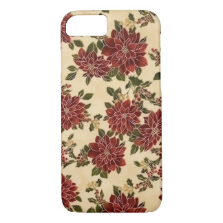 Christmas Poinsettias iPhone 7 Case