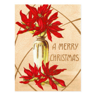 Christmas Poinsettias Postcards
