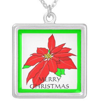 Christmas Pointsetta Necklace
