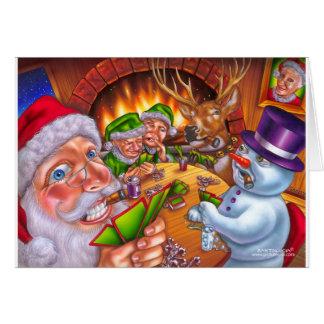 christmas poker card