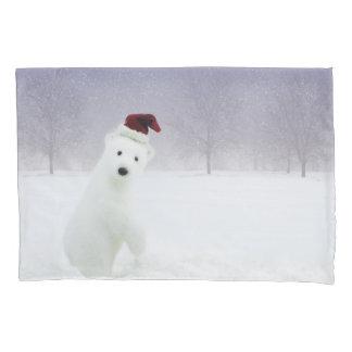 Christmas Polar Bear (2 sides) Pillowcase