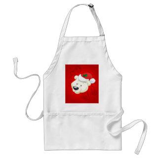 Christmas polar bear apron