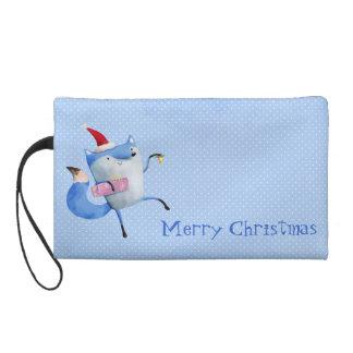 Christmas Polar Fox Wristlet Purses