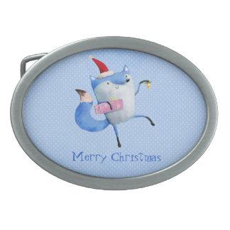 Christmas Polar Fox Belt Buckle