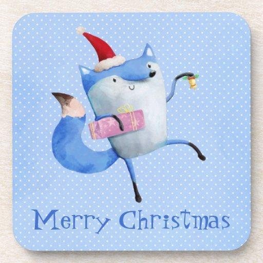 Christmas Polar Fox Drink Coasters