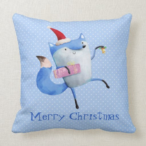 Christmas Polar Fox Pillow
