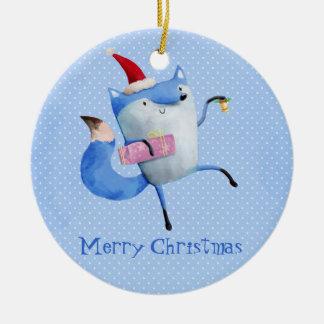 Christmas Polar Fox Christmas Tree Ornament