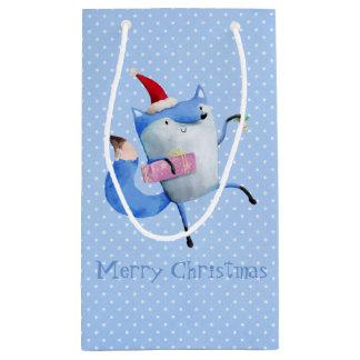Christmas Polar Fox Small Gift Bag
