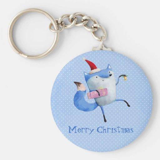 Christmas Polar Fox Keychains